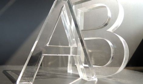 Laser Cut Perspex Letters