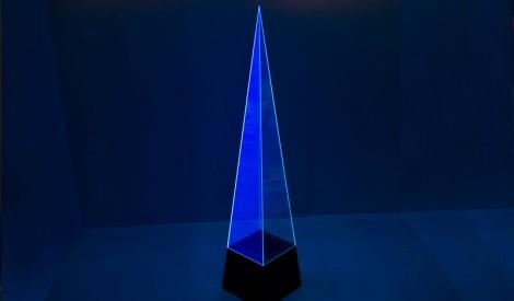 Perspex Acrylic Live Edge Pyramid
